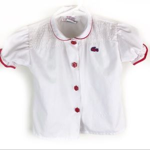 IZOD Lacoste- vintage baby girl blouse 24 months